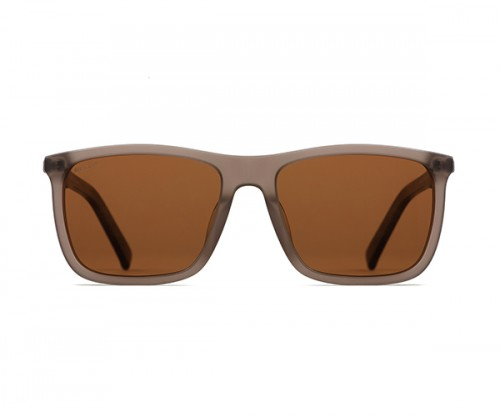 MARCO 116 Men's Brown Polarized Sunglasses Front View
